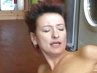 RedHead Granny Gets a Big Load From Her NeighBor - LETSDOEIT&period